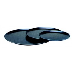 Plaque ronde tole bleue 15/10 pour pizzas