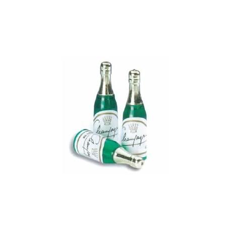 Bouteille de champagne plastique pour deco gateaux par 72 - Deco bouteille plastique ...