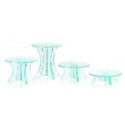 Gueridon rond pour tartes, gateaux cristal