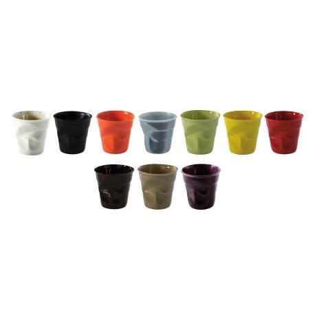 tasse expresso type gobelets froisses en porcelaine revol x6. Black Bedroom Furniture Sets. Home Design Ideas