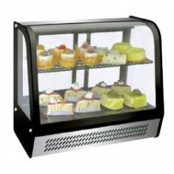 Vitrine réfrigérée de comptoir 2 niveaux à poser 120 litres