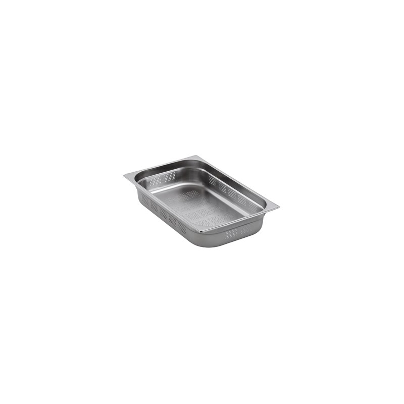 Bac gastronorme inox perfore gn 2 1 for Bac a poisson inox