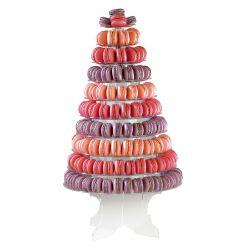 Pyramide à macarons 10 plateaux amovibles