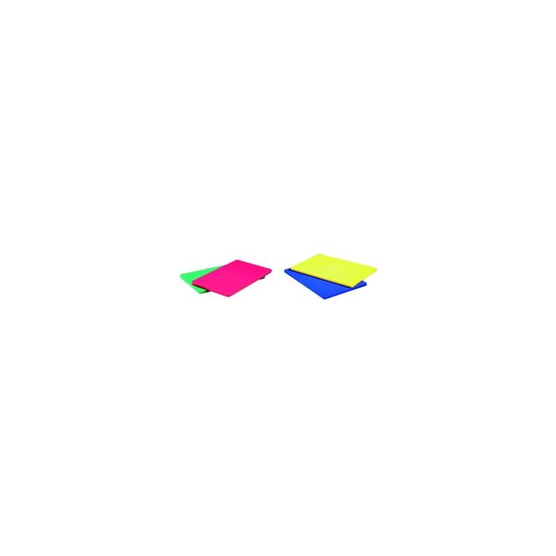 Planche a decouper en polyethylene de couleur 60x40cm - Planche de couleur ...