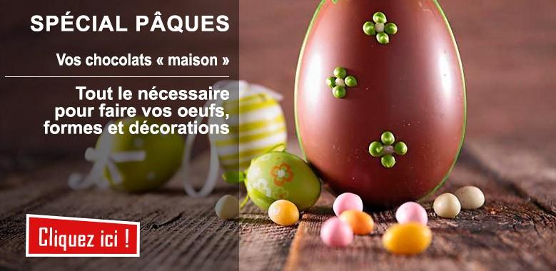 Spécial Pâques : tout le matériel pour confectionner ses oeufs, formes et décors soi même !