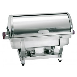 Chafing dish inox gn 1/1 à couvercle coulissant