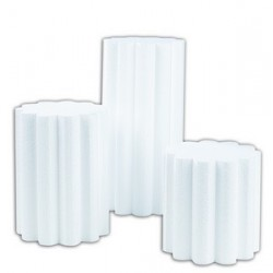 Présentoir polystyrène colonne diamètre 15 cm par lot