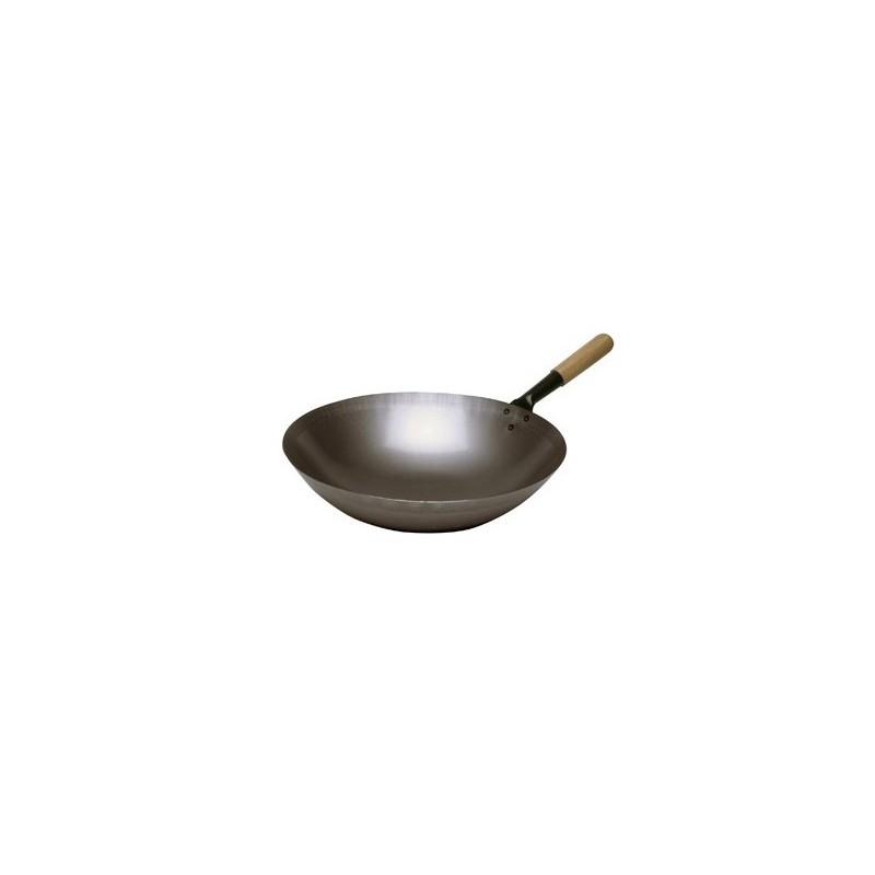 poele sauteuse wok en acier. Black Bedroom Furniture Sets. Home Design Ideas