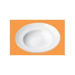 6 assiettes à pâtes en porcelaine hotelière