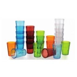 Gobelets empilables en polycarbonate différentes couleurs (x12)