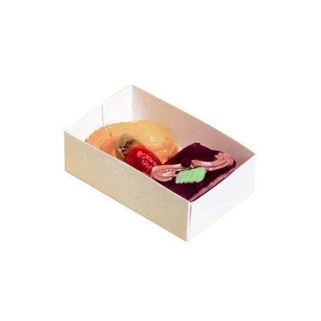 Boite carton a petits fours sans couvercle par 100