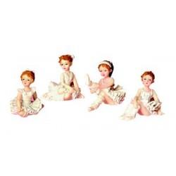 Boîte de 4 danseuses assorties pour décorer vos gâteaux