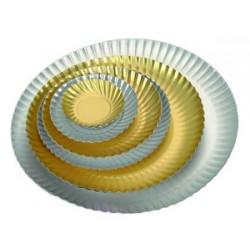 Assiette carton metallise or ou argent