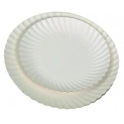 Assiette jetable carton blanc impergras