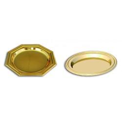 Mini assiette jetable coloris or (x125)