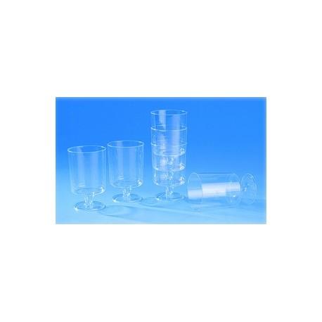 Verre a pied jetable plastique cristal (x720)