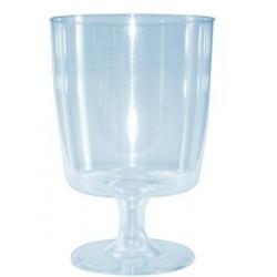 Verre jetable à pied plastique cristal (par 24)