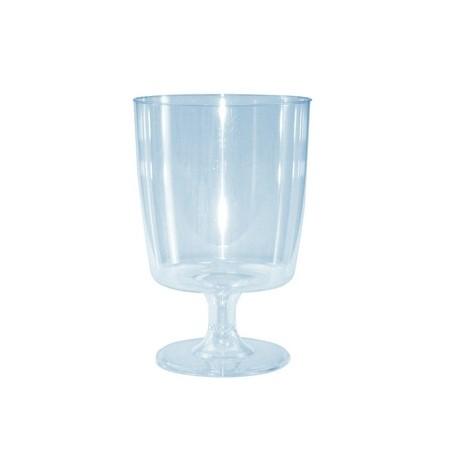 verre jetable a pied plastique cristal par 24. Black Bedroom Furniture Sets. Home Design Ideas