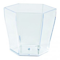 "Verrine ""hexagonale"" plastique (x24)"