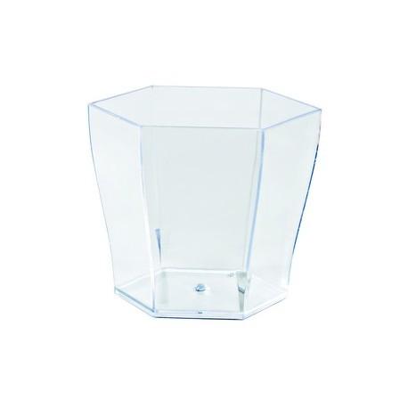 "Verrine ""hexagonale"" plastique (x24)"
