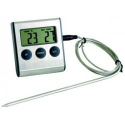 Thermometre electronique pour four sonde inox et minuteur