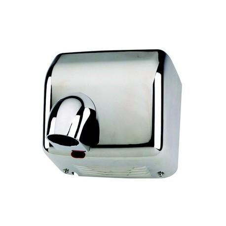 Sèche mains automatique, corps en acier chromé