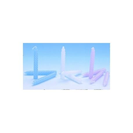 48 bougies torsadees pastel 10 ans anniversaire