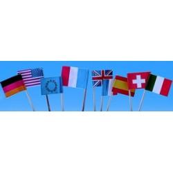 Décors 144 petits drapeaux papier (francais, européens, 5/6 nations)