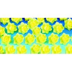 Décors azyme jonquille jaune pour gâteaux/dessert (x28)