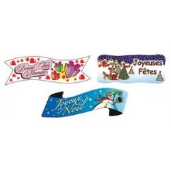 Décors banderole décorée fête, noël, st valentin en azyme (x24)
