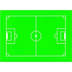 Terrain de football en decors azyme pour vos patisseries (x12)