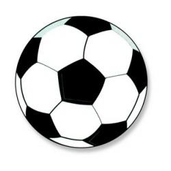 Décors azyme ballon de football aromatisé vanille (x50)