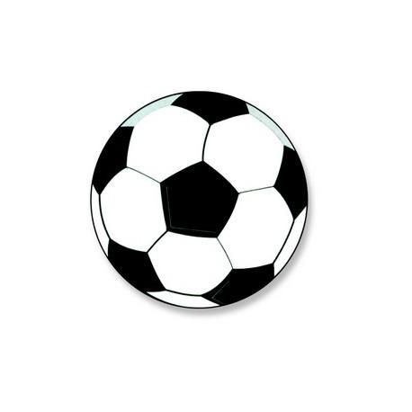 Decors azyme ballon de football aromatise vanille (x50)