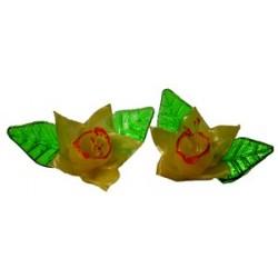 Décors sucre tiré 22 jonquilles et 44 feuilles