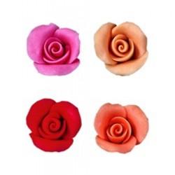 35 roses pâte d'amande confiseur pour décor pâtisserie