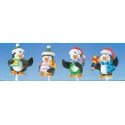 Pingouins sur pique pour décors noël par 50