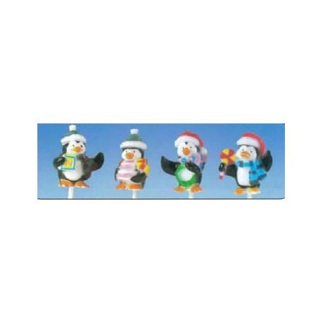 Pingouins sur pique pour decors noel par 50