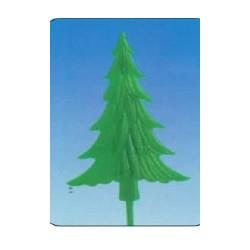 Sapin vert plat sur pique pour décorer gâteau et bûche de noël par 100