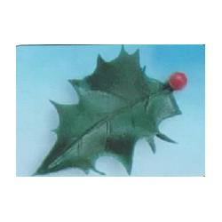Feuille de houx verte pour décoration noël par 144