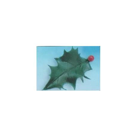 Feuille de houx verte pour decoration noel par 144
