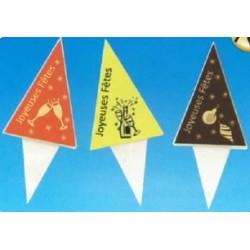 Piques design joyeuses fêtes pour décorer vos gâteaux, bûches de noel par 72