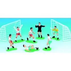Decors gateaux 6 joueurs de football + 2 gages