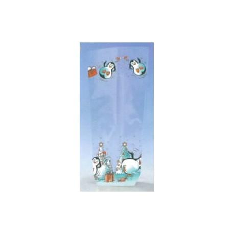 Paquet de 100 sacs plats pingouins pour chocolat, confiserie