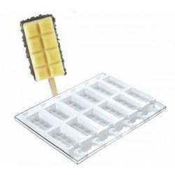 Moule stecco flex pour 12 glaces ou gâteaux forme classique, tango ou choco