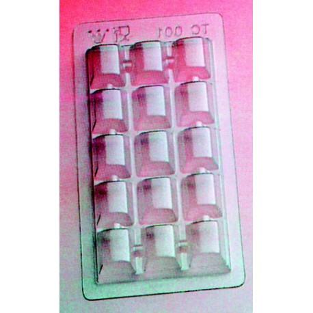 Lot de 5 tablettes 100 gr plaque polypropylene pour chocolat
