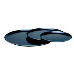 Plaque ronde tôle bleue 15/10 pour pizzas