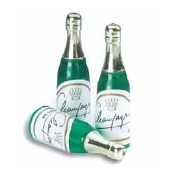 Bouteille de champagne plastique pour déco gâteaux par 72