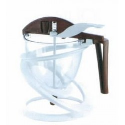 Entonnoir polycarbonate à piston 0.80 l funnel choc