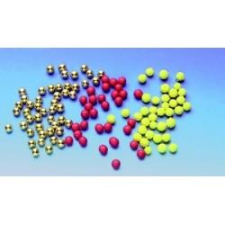Decors gateaux/patisseries : boules or, houx, mimosa (1kg)