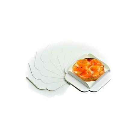 Carre raine carton extra blanc ingraissable pour patisserie par 250
